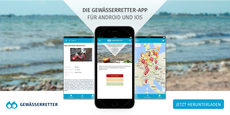Screenshot Gewässerretter-App
