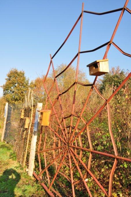 Trellis welded by volunteers from old steel parts of our plentiful greenhouses - Image: NABU Bremen