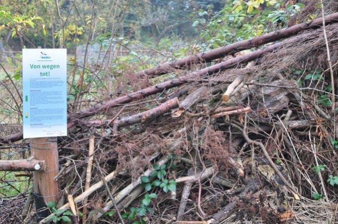 Deadwood hedge - Image: NABU Bremen