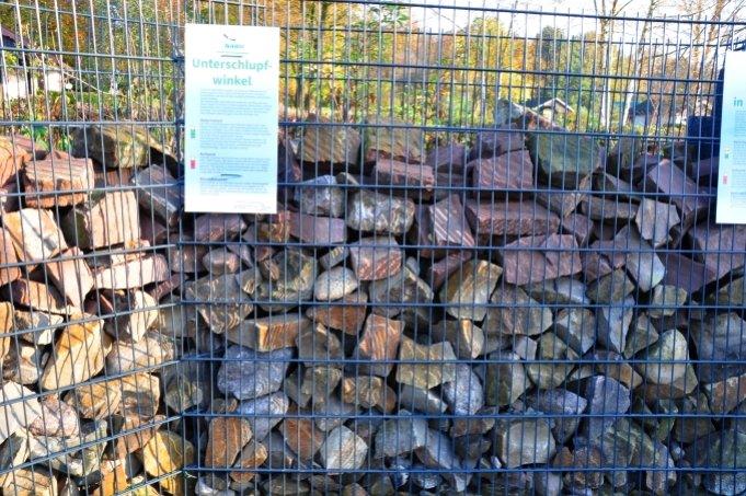 A typical gabion ... Image: NABU Bremen